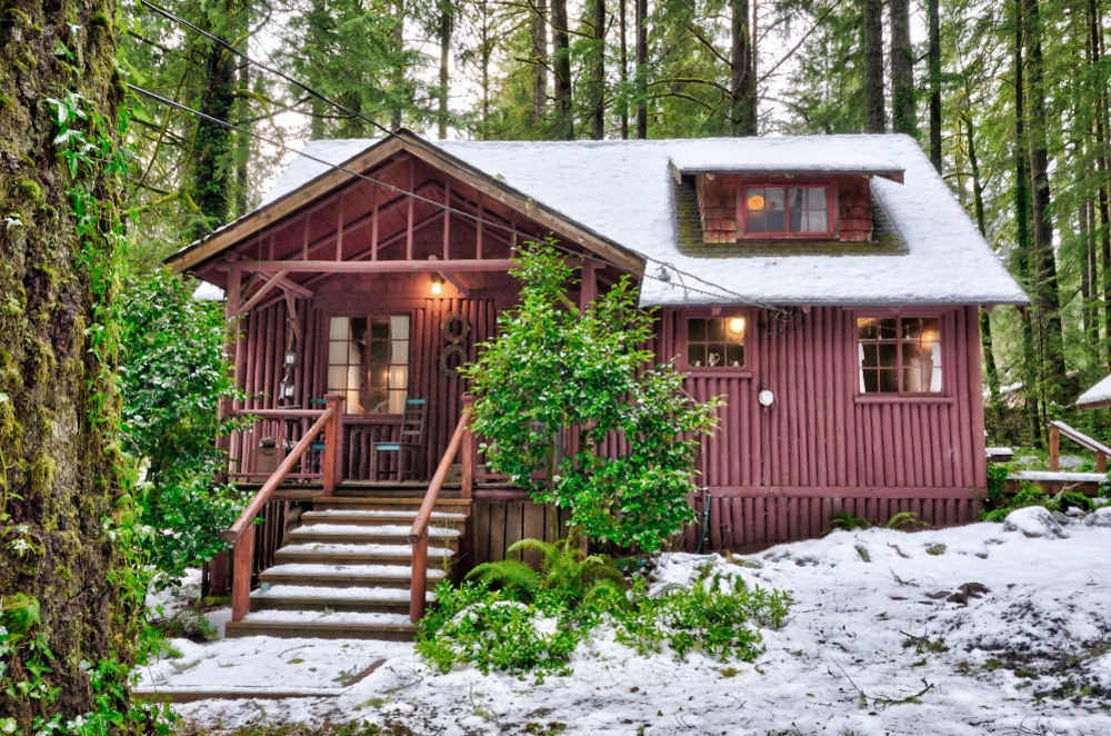 Steiner Log Cabin Brightwood Oregon