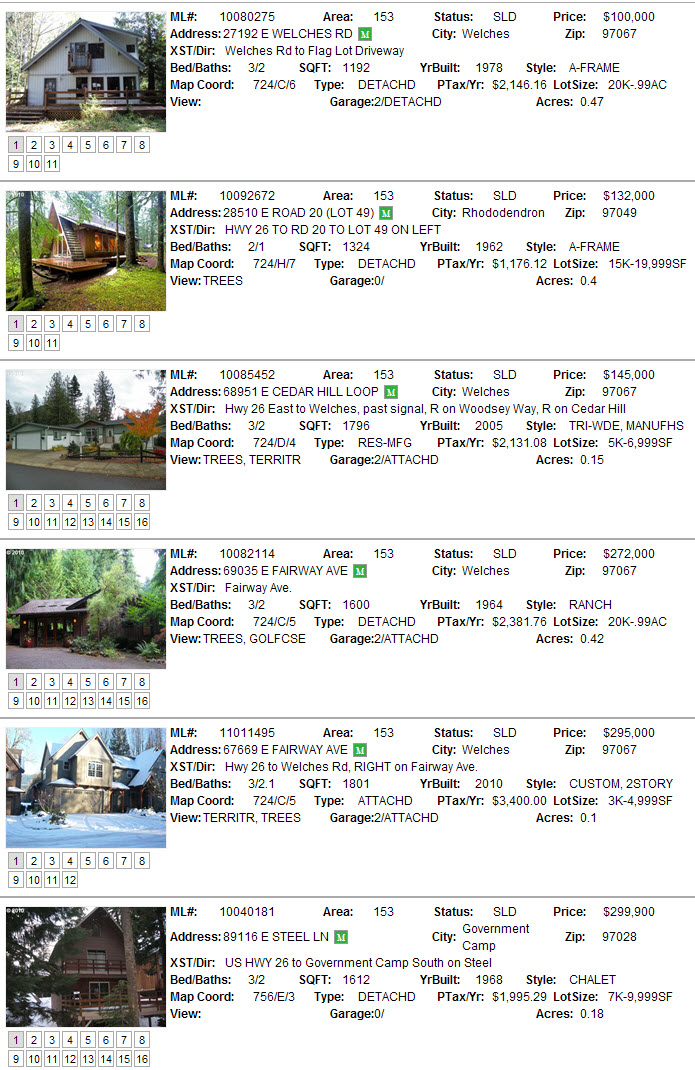 Mt. Hood Sales for January 2011