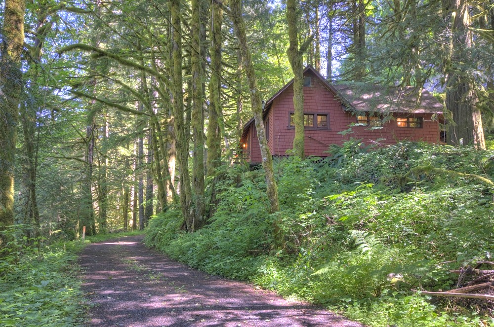 Still Creek Cabin in the Mt. Hood National Forest near Rhododendron Oregon