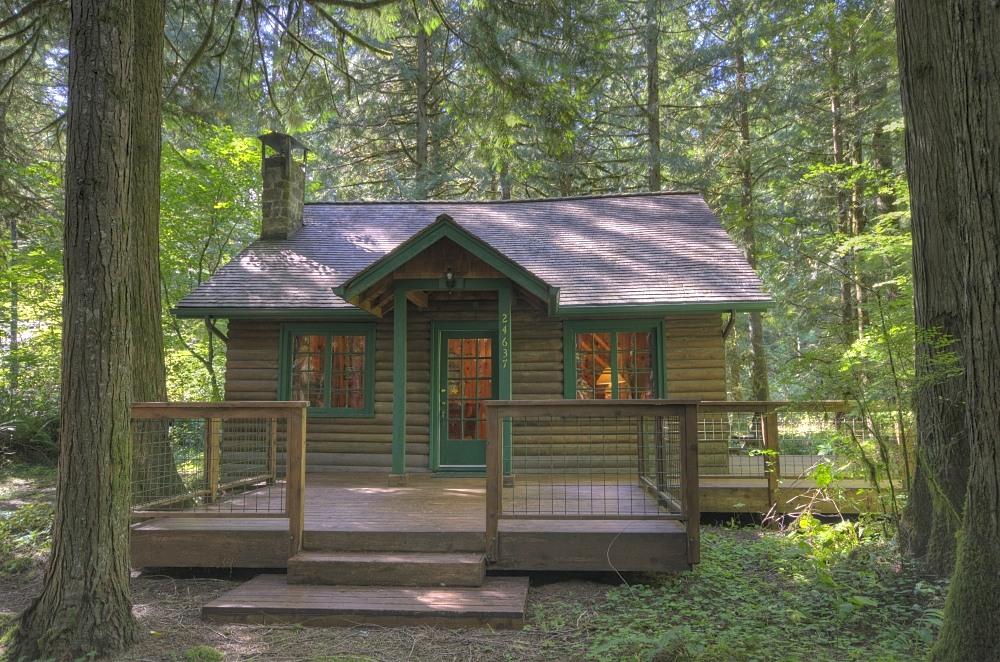 Rhododendron Log Cabin