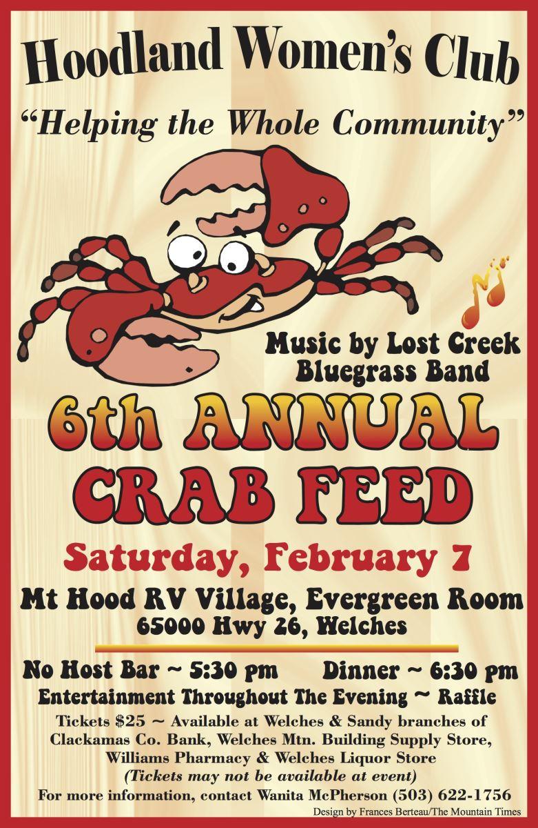 Hoodland Women's Club Crab Feed Fund Raiser for the Mt. Hood Community