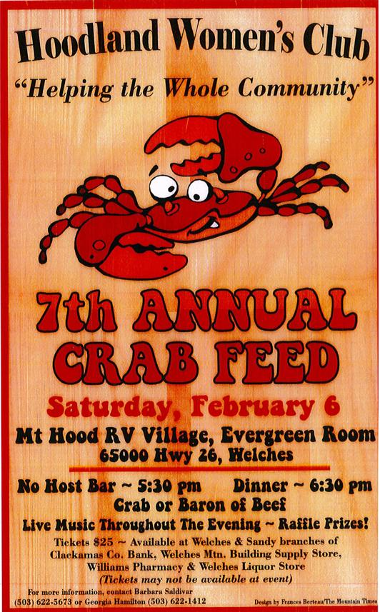 Hoodland Womens Club Crabfeed 2016
