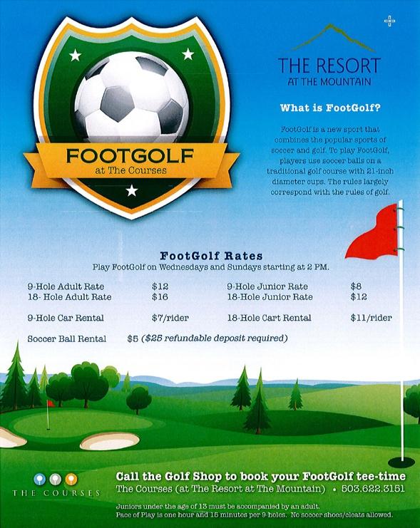 Foot Golf at the Resort at the Mountain