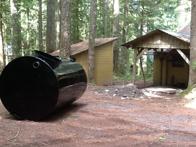 Septic tank on Mt. Hood National Forest