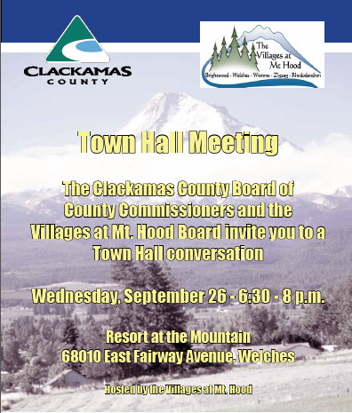Mt. Hood Villages Town Hall Meeting