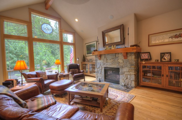 Craftsman Custom one level at the Resort at the Mountain in Welches Oregon