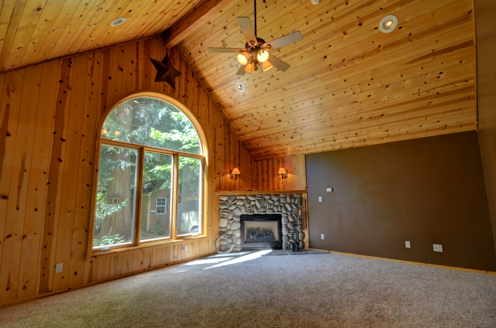 Knotty Pine family room on Twinberry Loop in Welches Oregon 97067