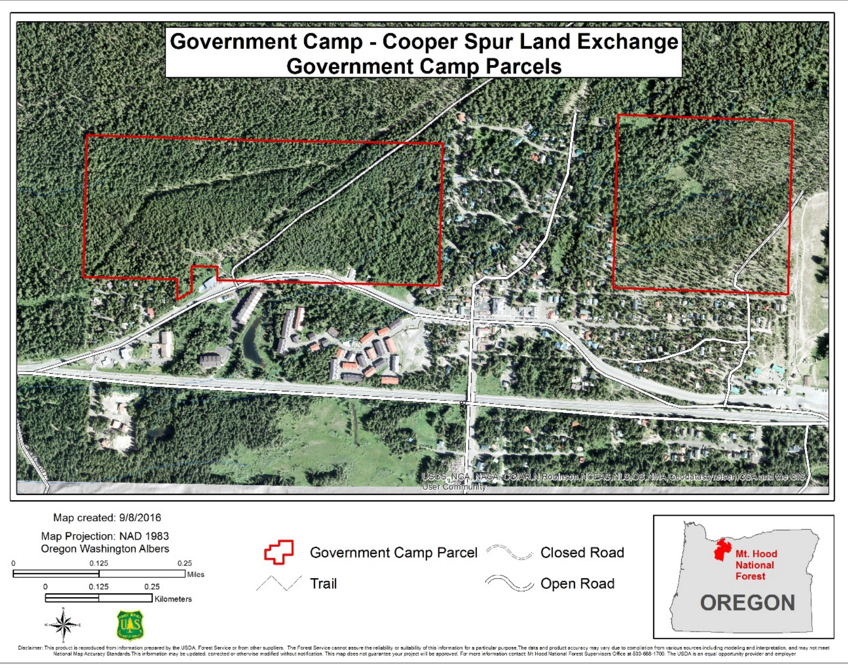 Government Camp Land Swap with Cooper Spur and Government Camp