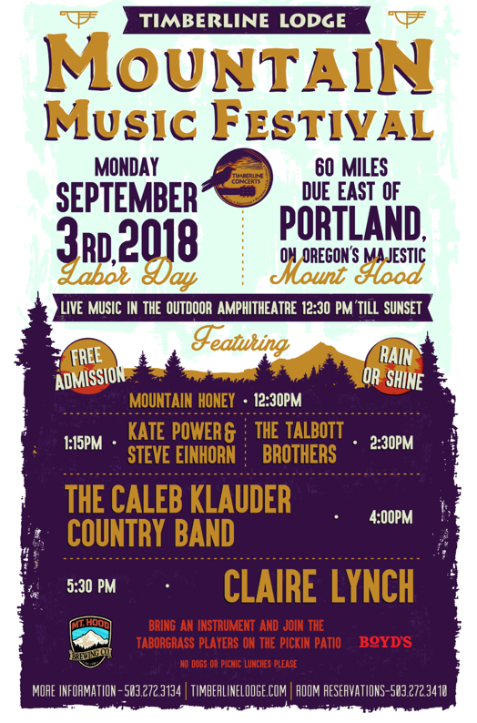 Labor Day Music Festival at Timberline Lodge September 3rd