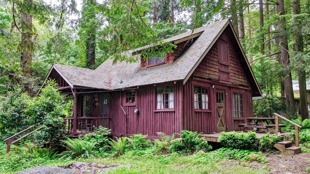 Steiner Log Cabin in Brightwood Oregon