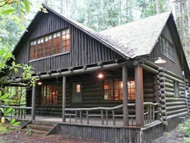 Mt. Hood Steiner Log Cabin Rhododendron, Oregon